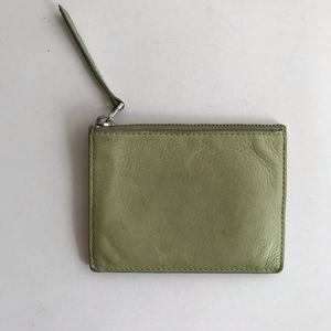 Madewell Small Wallet - Green leather